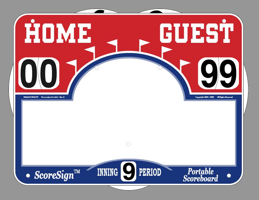 Blank baseball scoreboard template